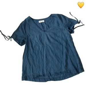 Madewell Short Sleeve Blue Top Size Small